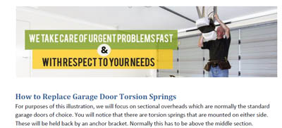 How to Replace Garage Door Torsion Springs - Garage Door Repair Vancouver